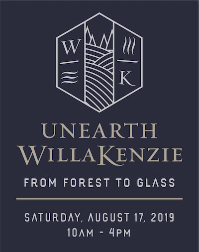UnEarth WillaKenzie logo, date and time